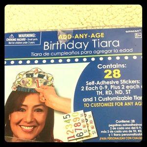 Add any age birthday tiara crown